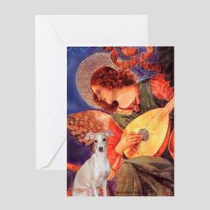 Mandolin Angel /Italian Greyhound Greeting Card