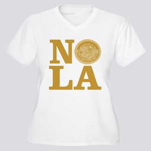 NOLa Water Meter Cover Women's Plus Size V-Neck T-