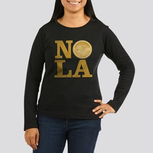 NOLa Water Meter Cover Women's Long Sleeve Dark T-