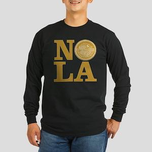 NOLa Water Meter Cover Long Sleeve Dark T-Shirt