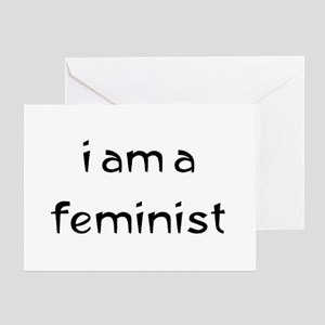 i am a feminist Greeting Card