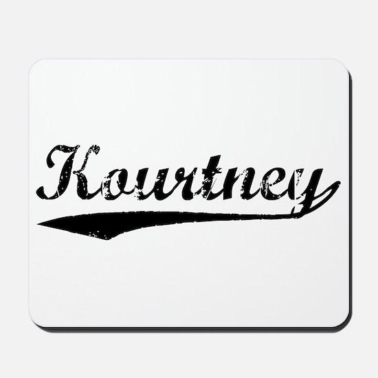 Vintage Kourtney (Black) Mousepad