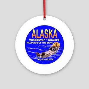 Alaskan Sea Otter Ornament (Round)