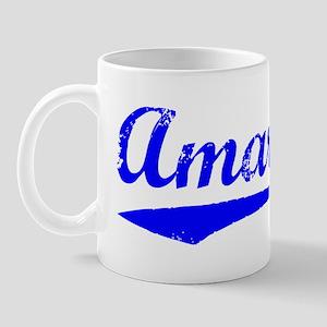Vintage Amarillo (Blue) Mug
