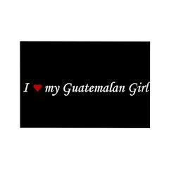 I Love My Guatemalan Girl Rectangle Magnet (10 pac