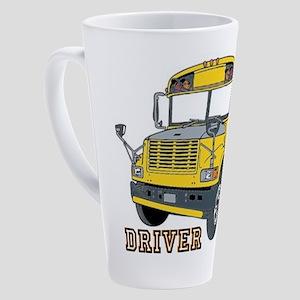 School Bus 17 Oz Latte Mug