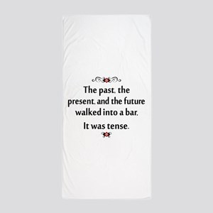 The past, present, and future Beach Towel