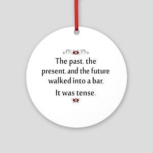 The past, present, and future Round Ornament