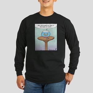 Fish Dry Sense of Humor Long Sleeve Dark T-Shirt
