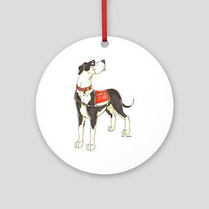 NMtl Red Vest Ornament (Round)