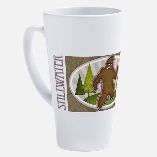 Funny Sasquatch 17 oz Latte Mug