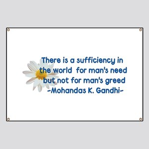 Gandhi Greed Quote Banner