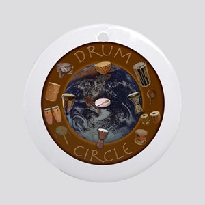 World Drum Circle Ornament (Round)