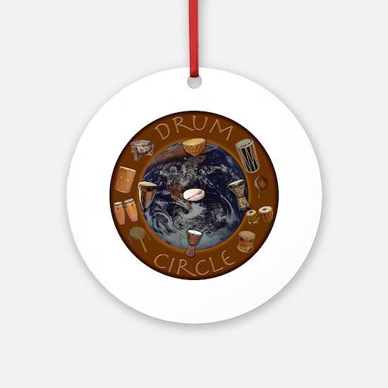 World Drum Circle Ornament (Round)