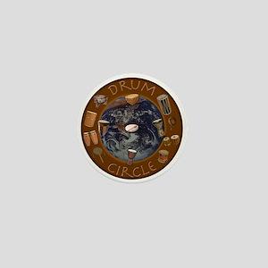 World Drum Circle Mini Button