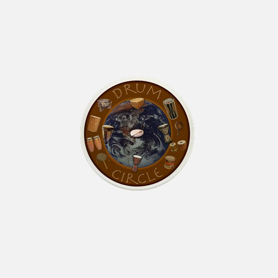 World Drum Circle Mini Button