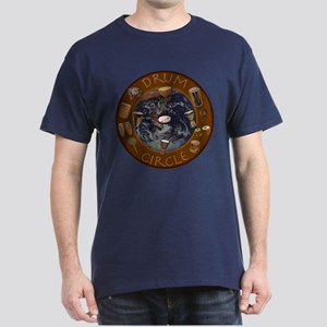 World Drum Circle Dark T-Shirt