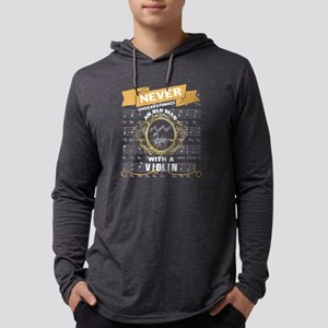 An Old Man With A Violin T shi Long Sleeve T-Shirt