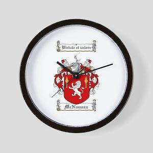 McNamara Family Crest Wall Clock