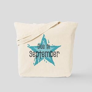 Blue Star Due In September Tote Bag