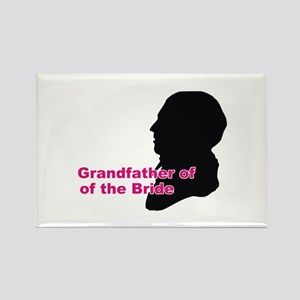 Silhouette Grandfather of the Bride Rectangle Magn