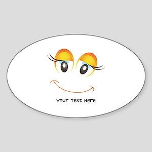 Funny Humor Sticker (Oval)