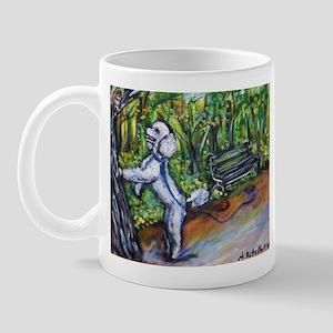 Poodle squirrel chaser Mug