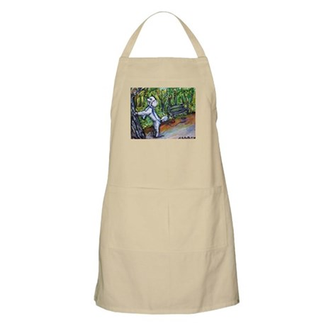 Poodle squirrel chaser BBQ Apron