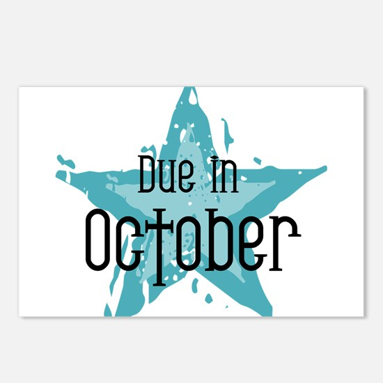Blue Star Due In October Postcards (Package of 8)