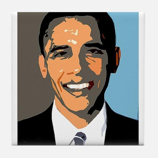 Barack Rocks Tile Coaster
