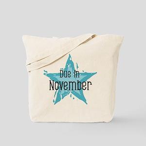 Blue Star Due In November Tote Bag