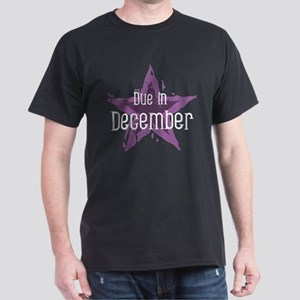 Purple Star Due In December Dark T-Shirt