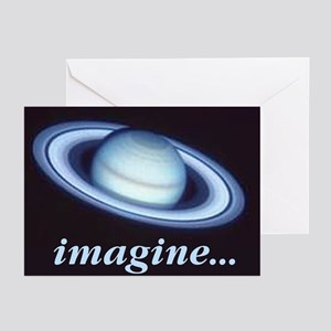 "Blank notecards ""Imagine Saturn"" (Pk of 10)"