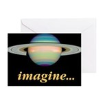 Blank notecards Saturn Imagine (Pk of 10)