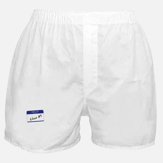 Hello, my name is Client 9 Boxer Shorts
