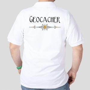 Geocacher Back Image Golf Shirt