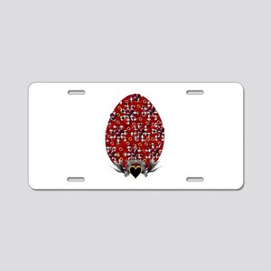 Rivets and Metal Easter Egg Aluminum License Plate