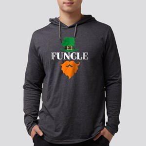 Bearded Funcle St Patricks Day Long Sleeve T-Shirt