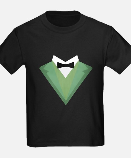 Green Tuxedo Suit with bow tie C3qgb T-Shirt