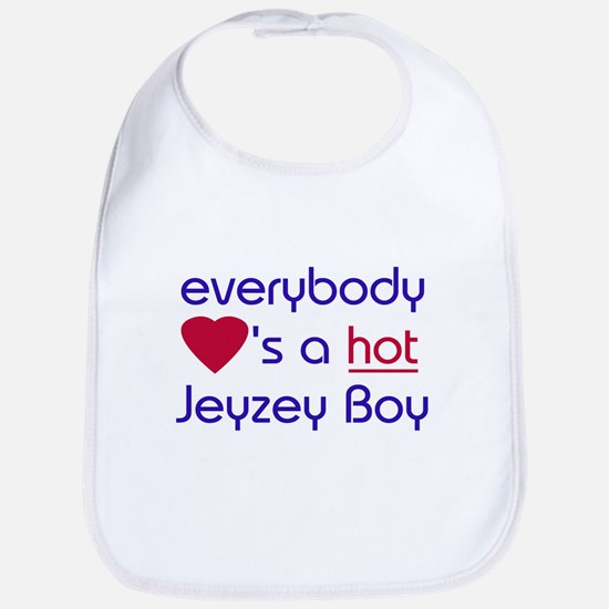 EVERYBODY LOVES A HOT JERSEY BOY Bib
