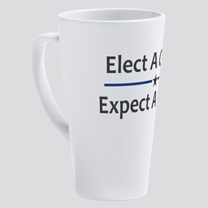 Elect A Clown Expect A Circus 17 oz Latte Mug
