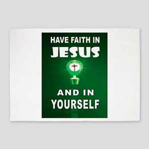 FAITH IN JESUS 5'x7'Area Rug