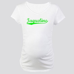 Vintage Jaqueline (Green) Maternity T-Shirt
