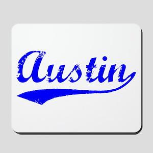Vintage Austin (Blue) Mousepad