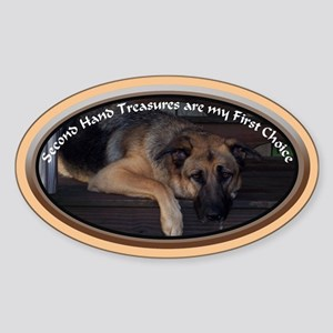 Second Hand Treasure Oval Sticker