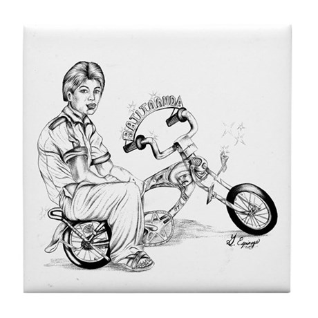 BO LOWRIDER BIKE BY FAT RAT Tile Coaster