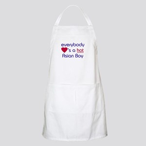 'EVERYBODY LOVES A HOT ASIAN BOY BBQ Apron