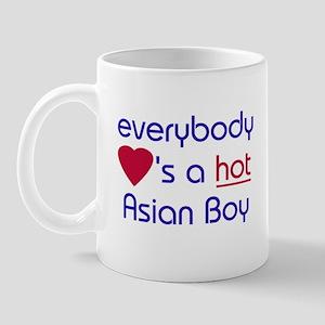 'EVERYBODY LOVES A HOT ASIAN BOY Mug