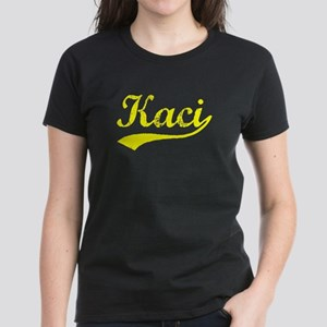 Vintage Kaci (Gold) Women's Dark T-Shirt