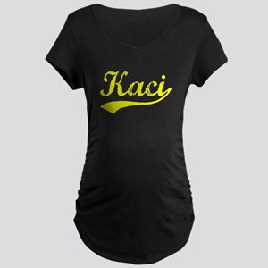 Vintage Kaci (Gold) Maternity Dark T-Shirt